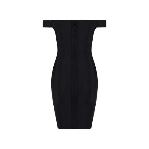 Off The Shoulder Lace Up Bandage Dress K069 8