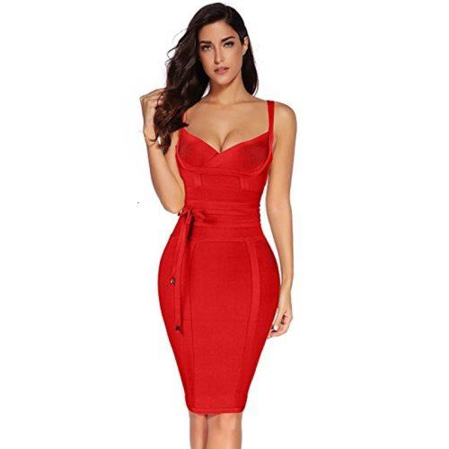 Strap Girding Bandage Dress K067 3