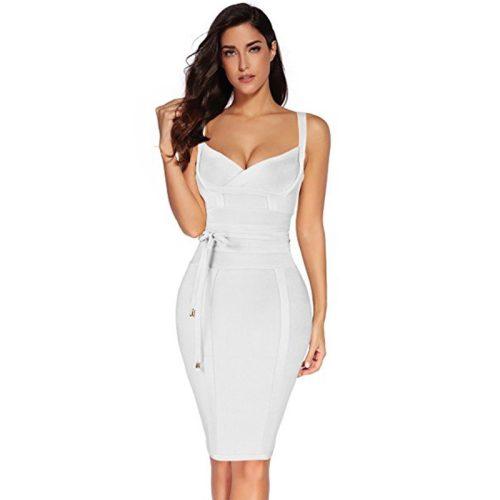 Strap Girding Bandage Dress K067 4