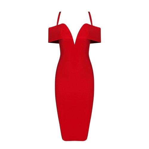 Strap Off The Shoulder Bandage Dress K078 21