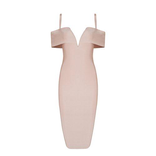 Strap Off The Shoulder Bandage Dress K078 23
