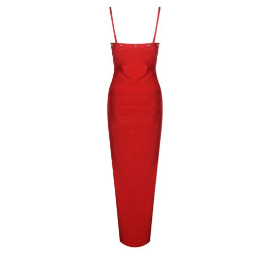 Strap Beaded Long Bandage Dress K080 1