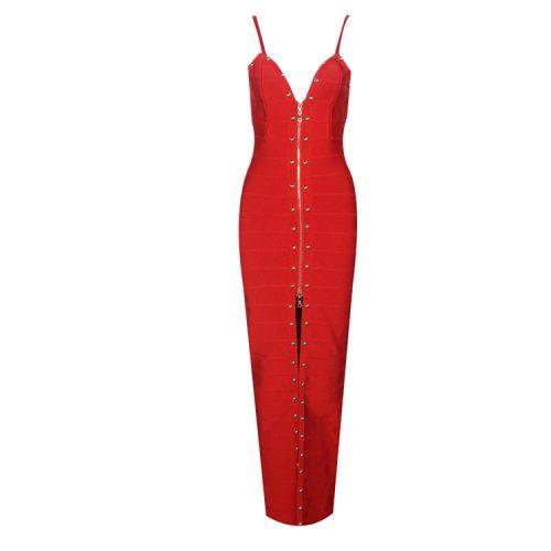 Strap Beaded Long Bandage Dress K080 11