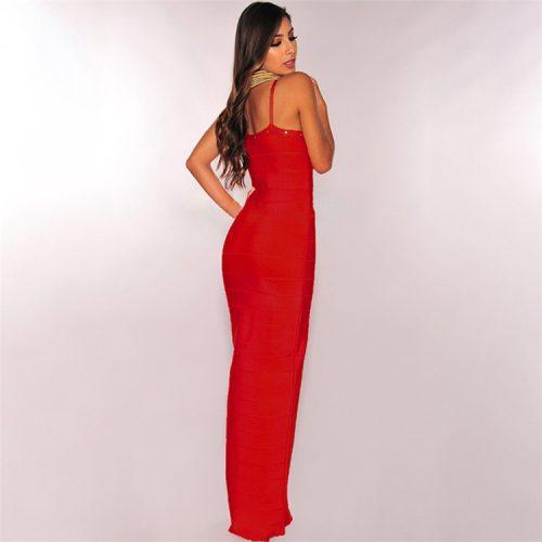 Strap Beaded Long Bandage Dress K080 15
