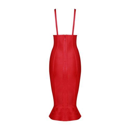 Strap V Neck Mermaid Bandage Dress K079 10