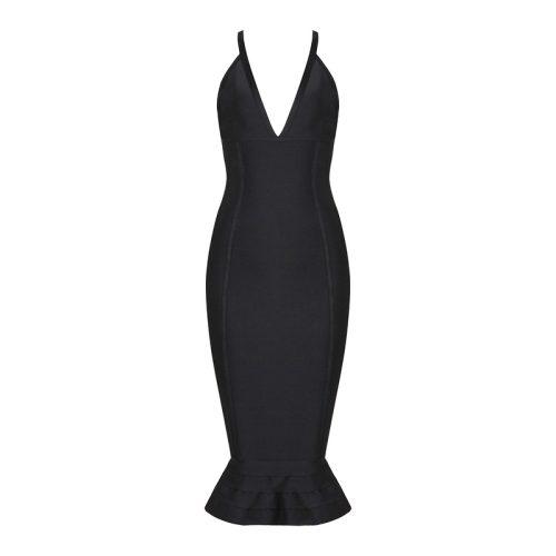 Strap V Neck Mermaid Bandage Dress K079 7
