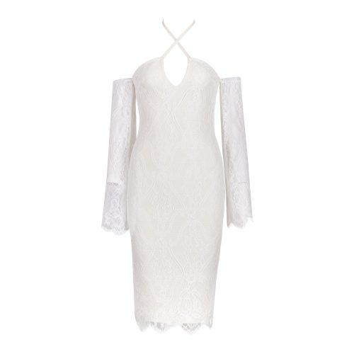 Off The Shoulder Lace Bandage Dress K102 18