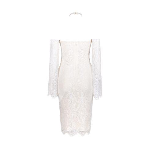 Off The Shoulder Lace Bandage Dress K102 20