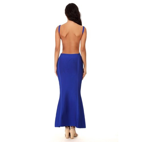 Strap Backless Bandage Maxi Dress K096 1