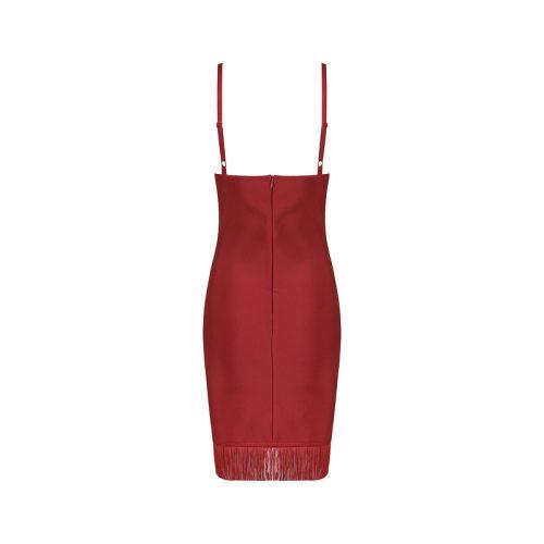Strap Tassel Mini Bandage Dress K089 10