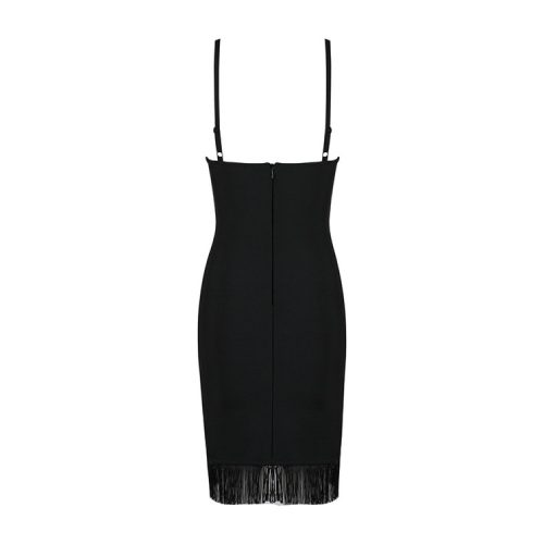Strap Tassel Mini Bandage Dress K089 14