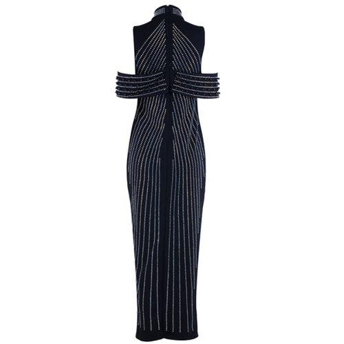 Beaded Pearl Luxury Maxi Dress K11325