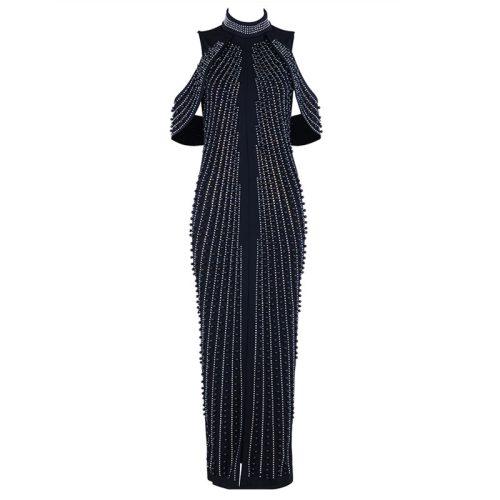 Beaded Pearl Luxury Maxi Dress K11327