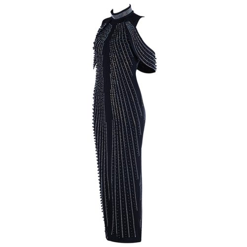 Beaded Pearl Luxury Maxi Dress K11328