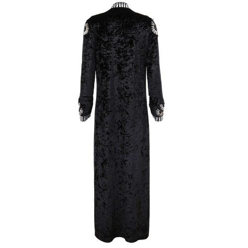 Velvet Beaded Floor Length Coat K126 9