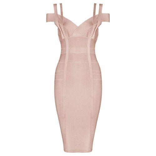 Strap Off The Shoulder Bandage Dress K138 1