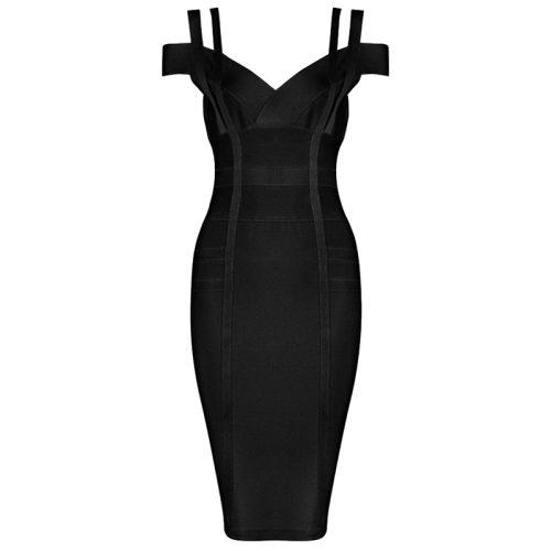 Strap Off The Shoulder Bandage Dress K138 5