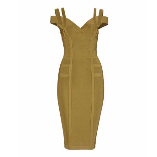 Strap Off The Shoulder Bandage Dress K138 6
