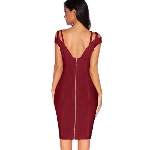 Strap Off The Shoulder Bandage Dress K138 8