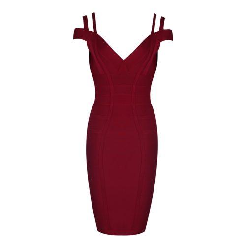 Strap Off The Shoulder Bandage Dress K13811