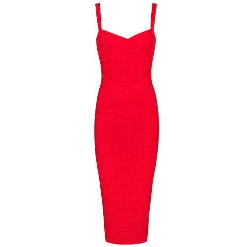 Classical Strap Stripe Bandage Dress KL139 19