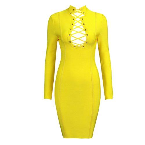 Lace Up V Neck Bandage Dress K168 10
