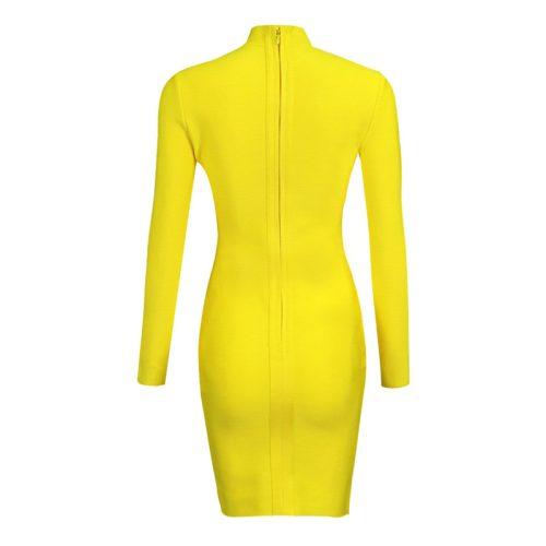 Lace Up V Neck Bandage Dress K168 4