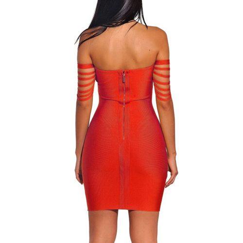 Line Off The Shoulder Bandage Dress K164 20