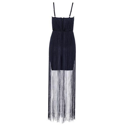 Strap Long Tassel Mini Bandage Dress K165 1