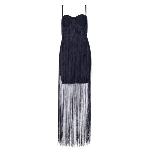 Strap Long Tassel Mini Bandage Dress K165 16