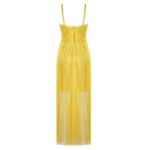 Strap Long Tassel Mini Bandage Dress K165 3