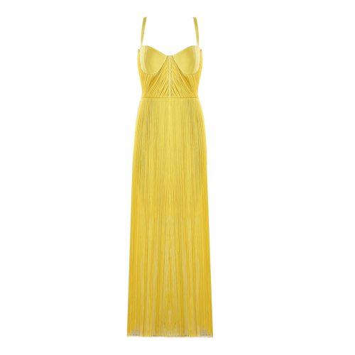 Strap Long Tassel Mini Bandage Dress K165 4