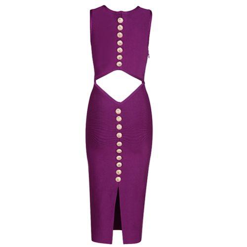 Back Hollow Out Stud Bandage Dress KL1196 3