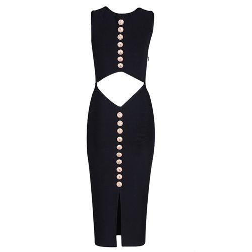 Back Hollow Out Stud Bandage Dress KL1196 6