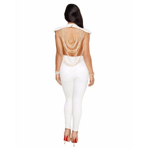 Backless Chain Ornament Bandage Jumpsuit K175 2