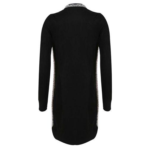 Bead Long Sleeve Zipper bodycon Dress K177 9