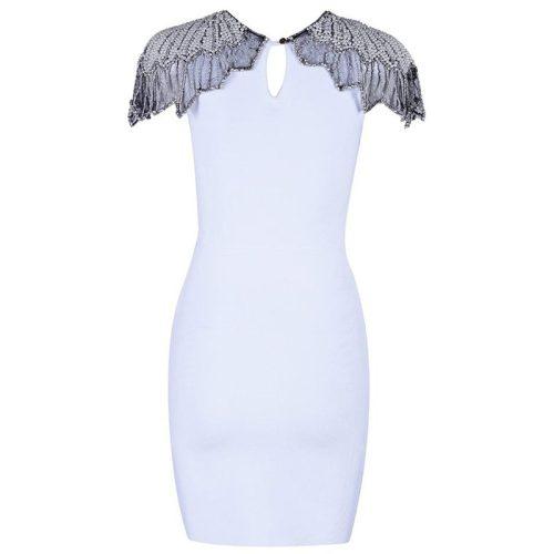 Bead Shoulder Bandage Dress K17618