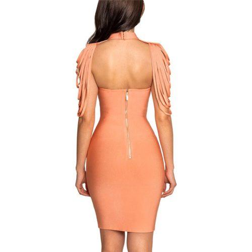Halter Neck Cappa Strapless Bandage Dress K180 10