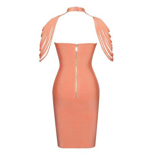 Halter Neck Cappa Strapless Bandage Dress K180 12