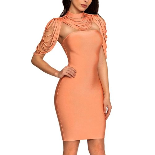 Halter Neck Cappa Strapless Bandage Dress K180 8
