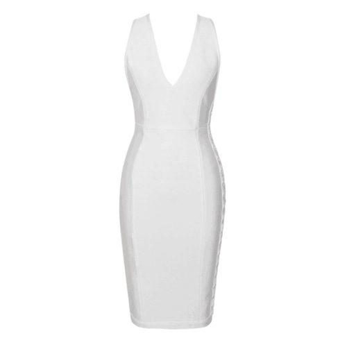 Deep V Starp Backless Lace Up Bandage Dress K202 6