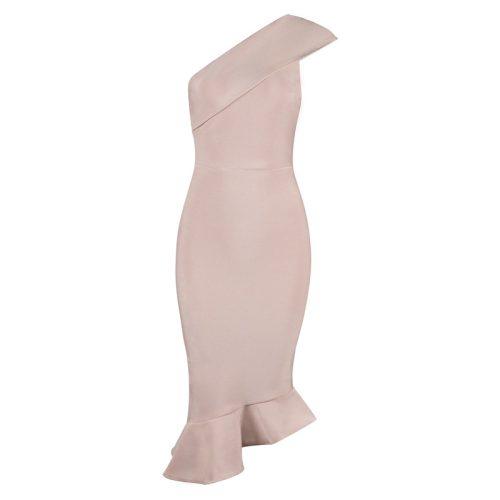 One Shoulder Sleeveless Floucing Bandage Dress K212 19