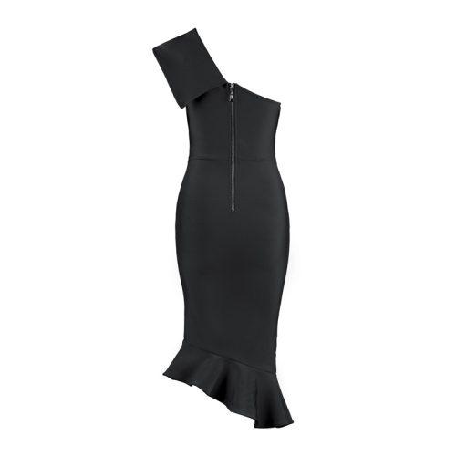 One Shoulder Sleeveless Floucing Bandage Dress K212 20