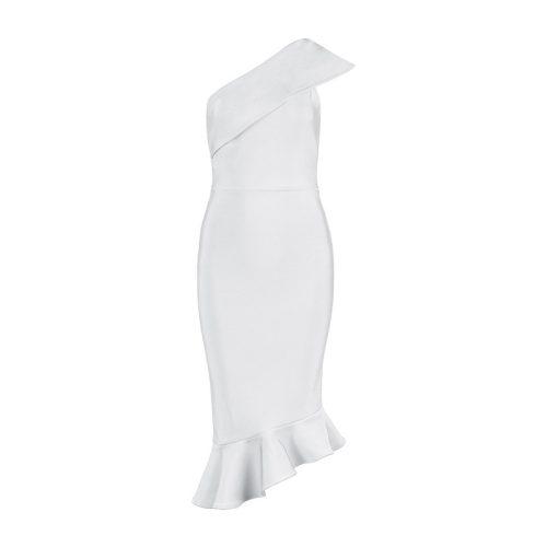 One Shoulder Sleeveless Floucing Bandage Dress K212 21