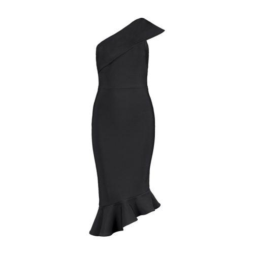 One Shoulder Sleeveless Floucing Bandage Dress K212 6