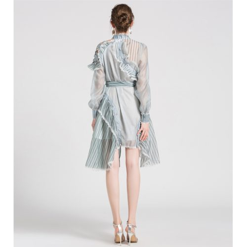 Ruffled Dress with Lace and Ruffled Edge K227 12