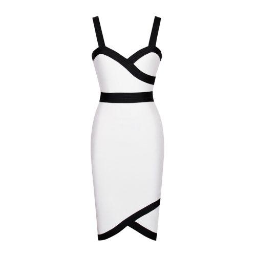 Black Stripe White Bandage Strap Dress K242 9