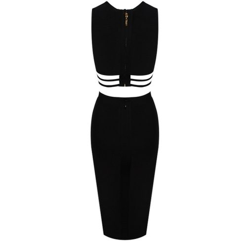 Bust Hollow Out Bandage Dress Two Piece Set K238 1