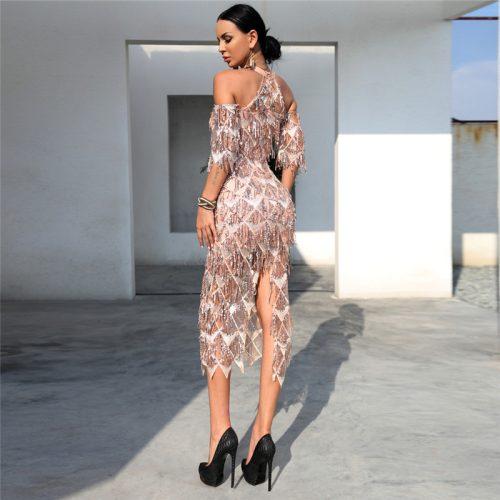 Mesh Sequin Off The Shoulder Dress K239 1