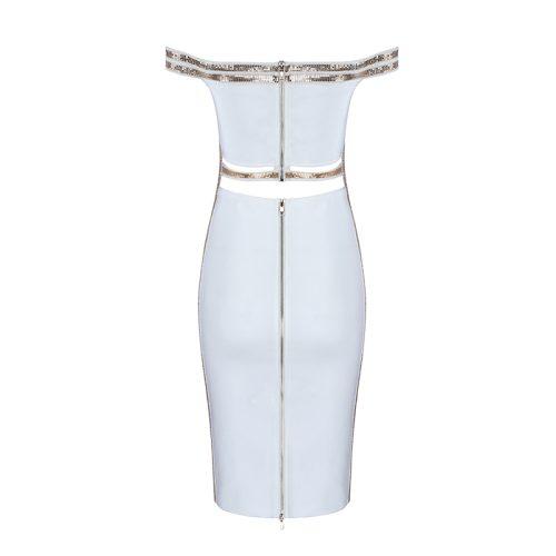 Sequin Waist Off The Shoulder Bandage Dress K240 14